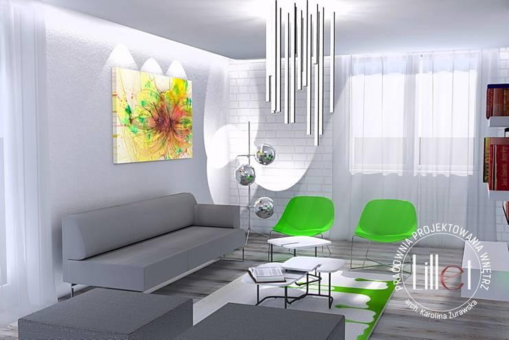 Livings de estilo  por ATELIER LILLET Karolina Lewandowska, Moderno