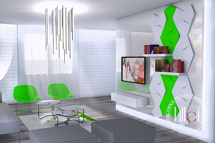 ห้องนั่งเล่น โดย ATELIER LILLET Karolina Lewandowska, โมเดิร์น
