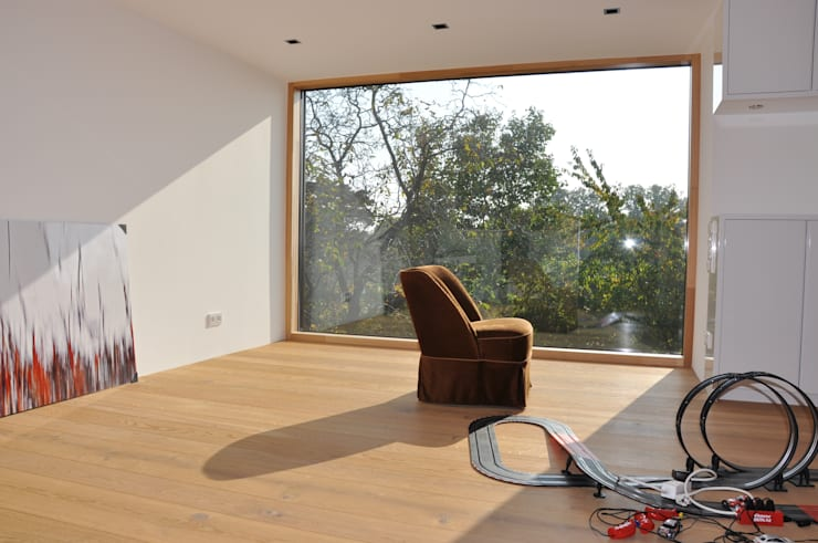 Projekty,  Domowe biuro i gabinet zaprojektowane przez Neugebauer Architekten BDA
