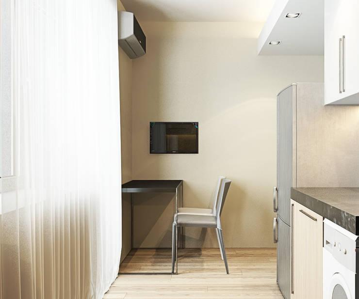 Квартира на Чистопольской: Кухни в . Автор – DOMOS Студия дизайна интерьеров и ремонта