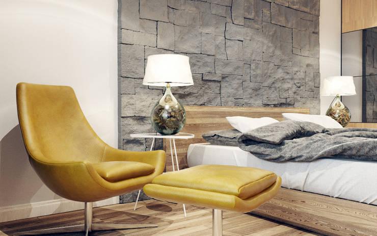 Квартира на Чистопольской: Спальни в . Автор – DOMOS Студия дизайна интерьеров и ремонта