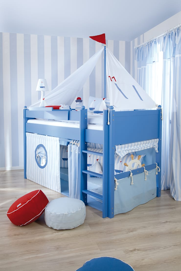 Sail Boat Mid Sleeper Bed :  Nursery/kid's room by The Baby Cot Shop
