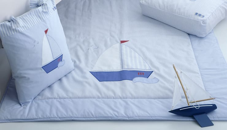 Sail Boat Quilt :  Nursery/kid's room by The Baby Cot Shop