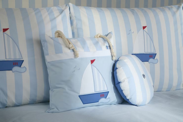 Sail Boat Cushions :  Nursery/kid's room by The Baby Cot Shop