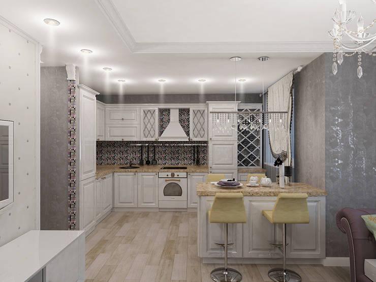 Легкая классика: Кухни в . Автор – Алиса Ерыкова Художественное проектирование