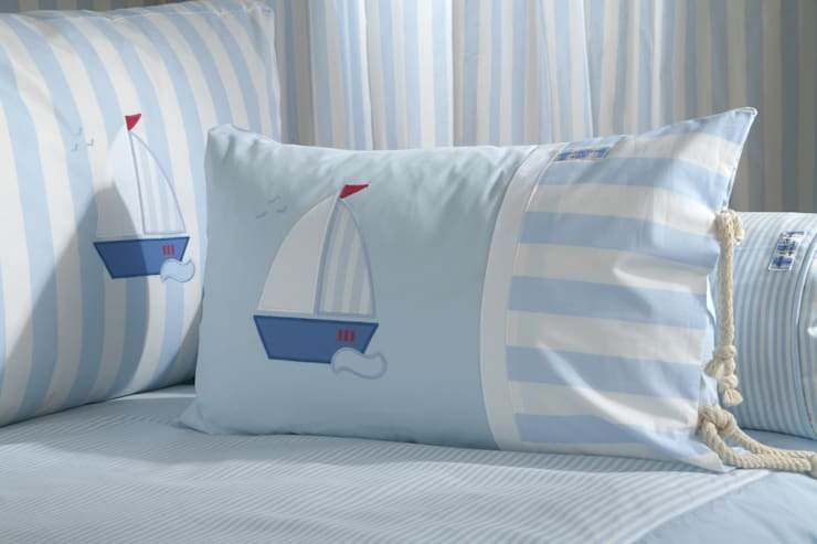 Sail Boat Cushion :  Nursery/kid's room by The Baby Cot Shop