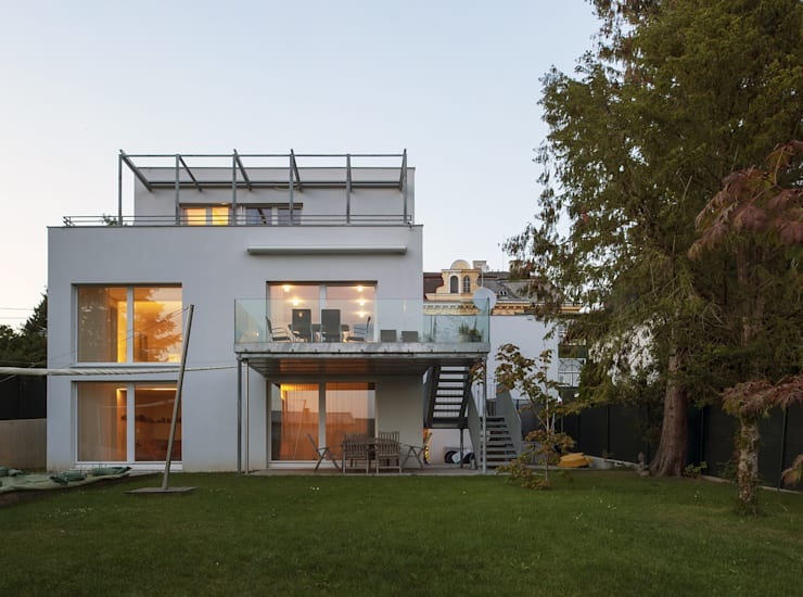 Vorstadtvilla in Wien Penzing:  Häuser von Abendroth Architekten,Modern
