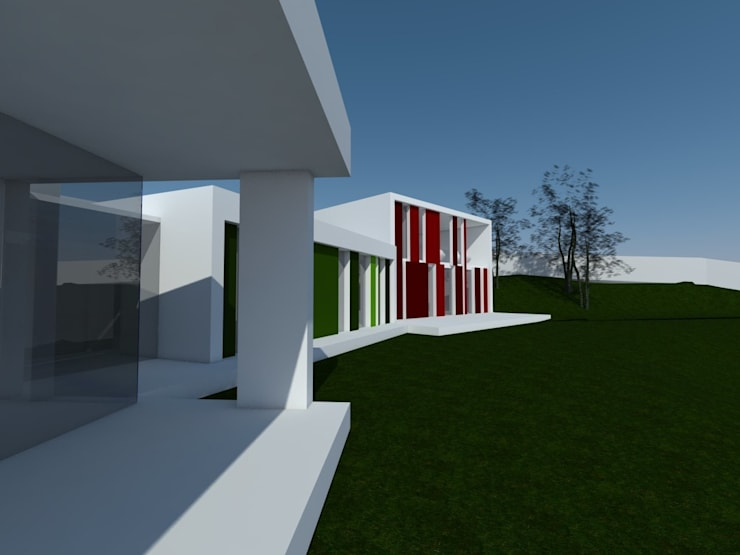 VIVIENDA UNIFAMILIAR EN SOBRADO: Casas de estilo  de arquitectura SEN MÁIS