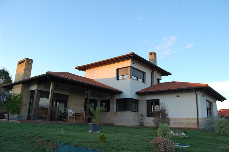 Vivienda en Siero 1: Casas de estilo  de Eva Fonseca estudio de arquitectura