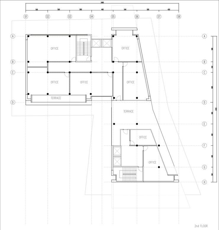 GOOA|GLOBAL OFFICE OF ARCHITECTURE  – 2.Kat Planı:  tarz Ofis Alanları