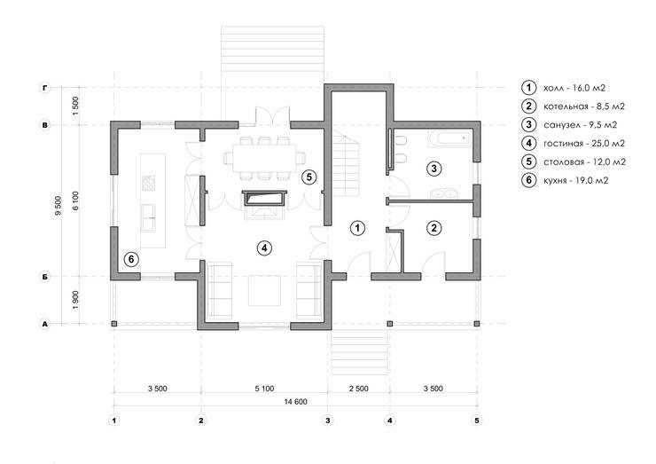 Projekty,  Domy zaprojektowane przez Максим Любецкий