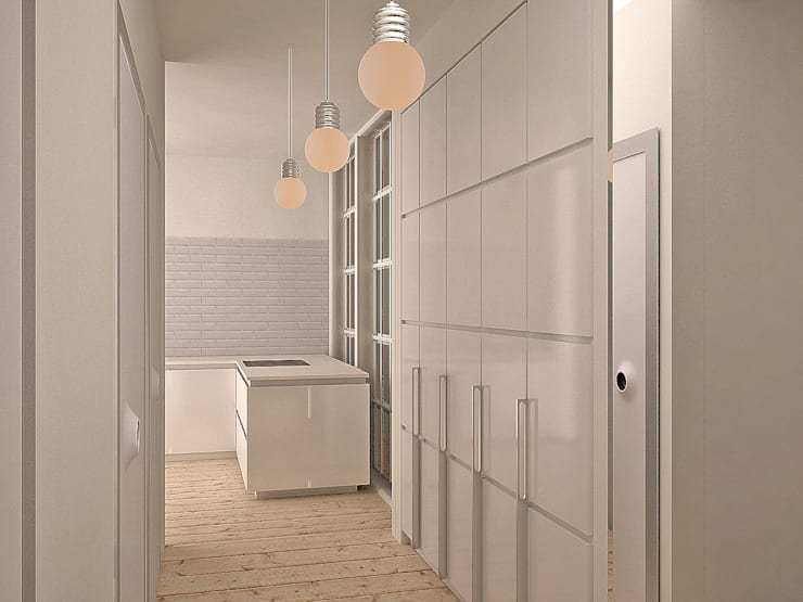 Da Vinci residential: Коридор и прихожая в . Автор – SHKAF interior architects