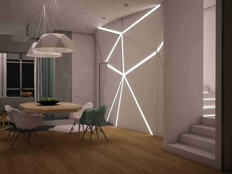 Townhouse Origami: Столовые комнаты в . Автор – SHKAF interior architects