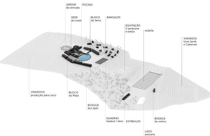 Vista Isométrica do empreendimento:   por Marcos Franchini Arquiteto