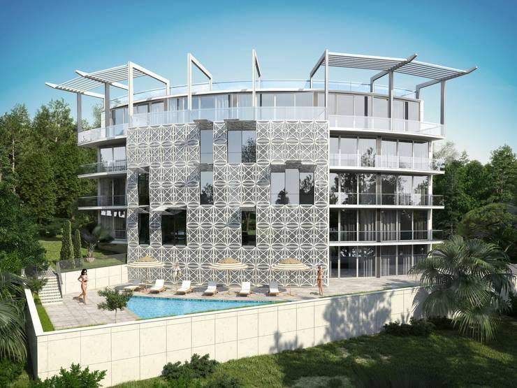 Многоквартирный жилой дом: Дома в . Автор – Максим Любецкий,