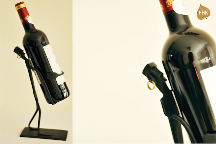 Wine Bottle Man :  Dining room by The House of Folklore