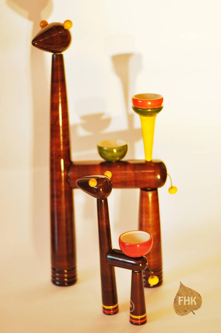 Giraffe Family Tea-Light Holder:  Living room by The House of Folklore