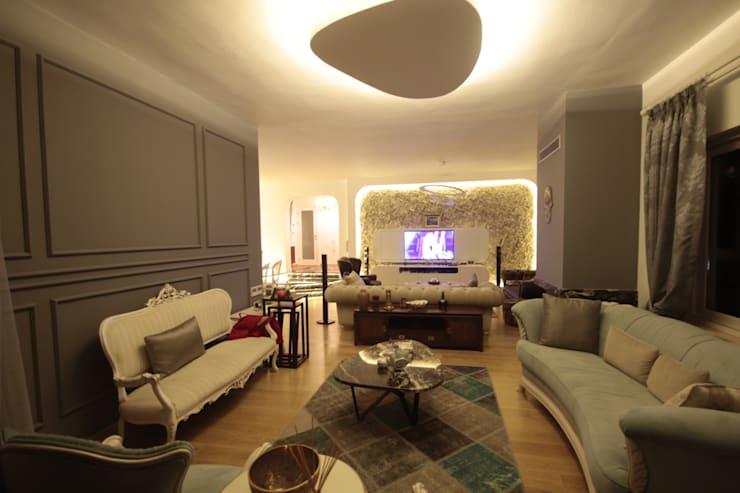 DerganÇARPAR Mimarlık  – AHMET ASLI İLHAN EVİ :  tarz Oturma Odası