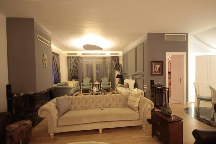 Living room by DerganÇARPAR Mimarlık