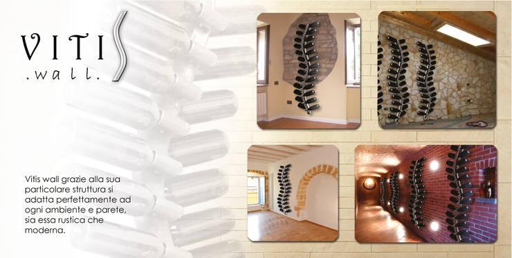 VITIS wall: Pareti & Pavimenti in stile  di MICHELE MALIN,