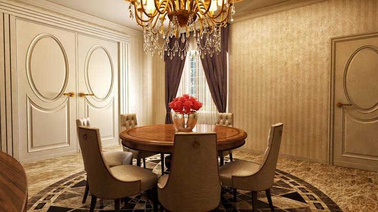 m. rezan özge özdemir – Villa iç tasarımı:  tarz Yemek Odası