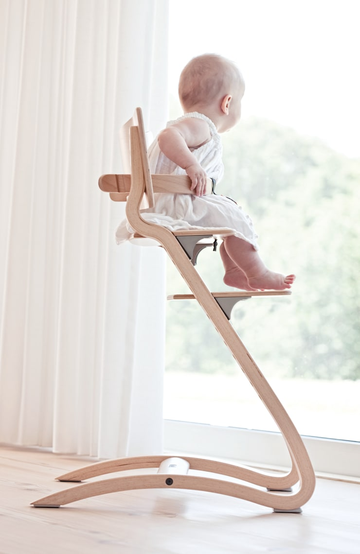 Leander High Chair in Natural:  Nursery/kid's room by Cuckooland