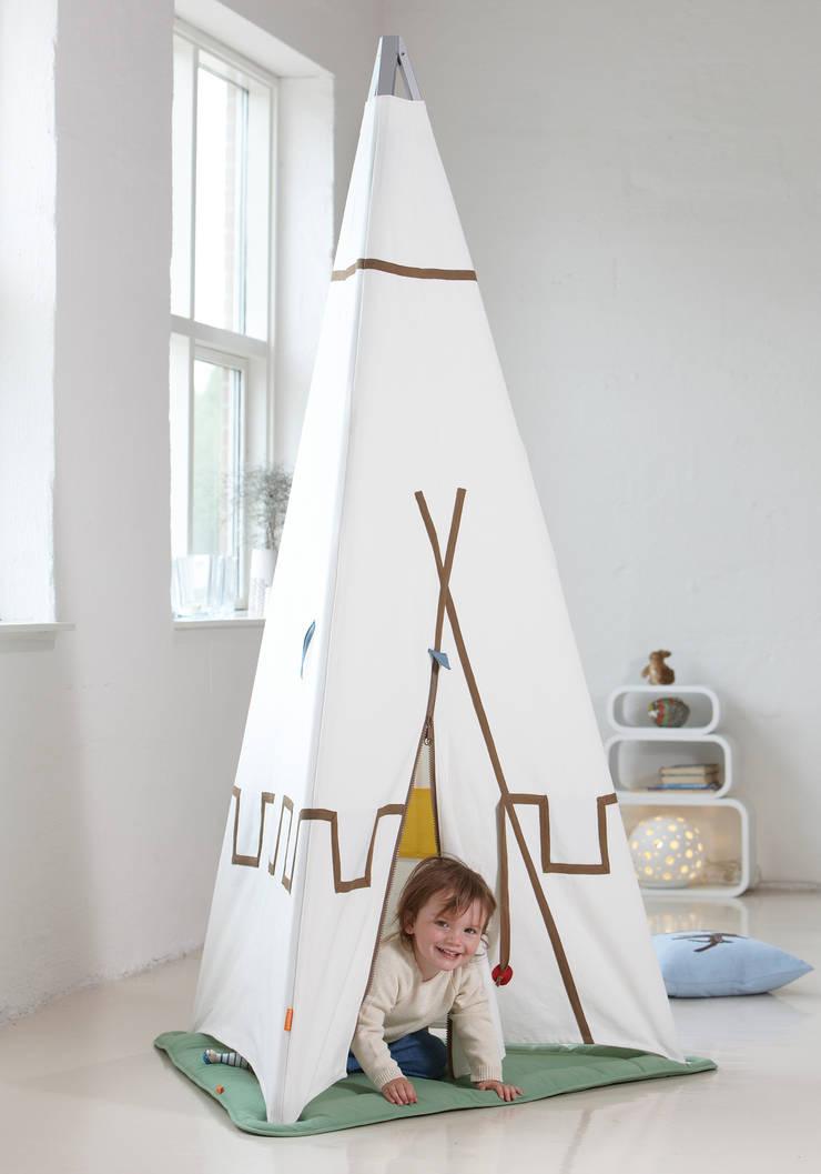Leander Tepee Play Tent and Play Mat; Tripod:  Nursery/kid's room by Cuckooland
