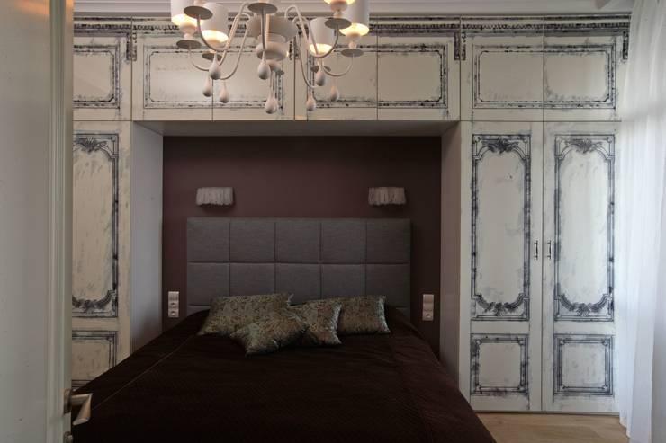 Над Москвой: Спальни в . Автор – Atelier Interior
