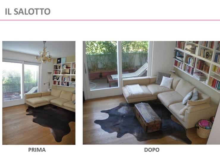 Home Staging - Prima e dopo:  in stile  di Kamaleontika