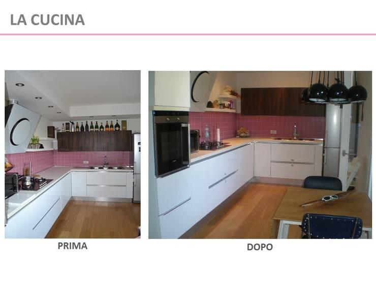 Home Staging – Prima e dopo:  in stile  di Kamaleontika