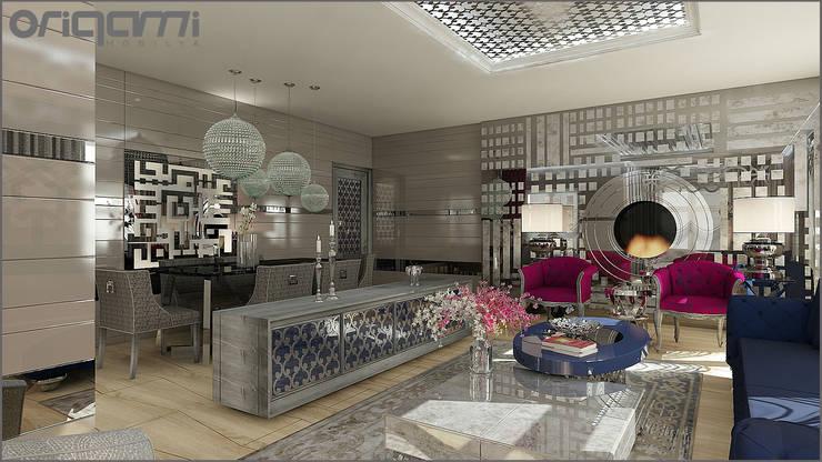 Origami Mobilya – Bakü Projesi Salon Tasarımı: eklektik tarz tarz Yemek Odası