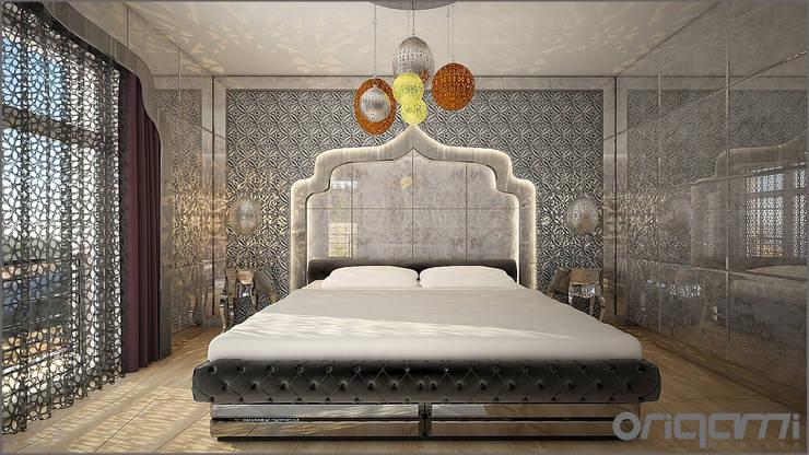Origami Mobilya – Bakü Projesi Yatak Odası Tasarımı:  tarz Yatak Odası