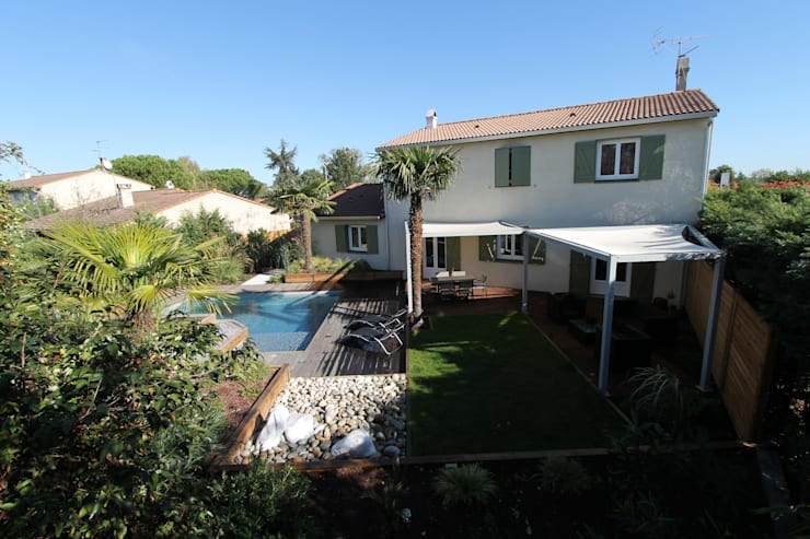 modern Zwembad door bureau d'etudes jardins KAEL