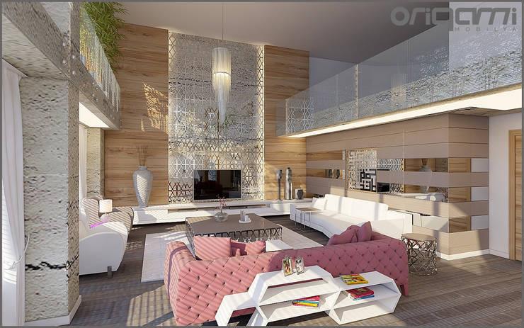 Projekty,  Salon zaprojektowane przez Origami Mobilya
