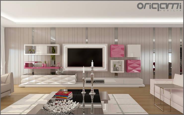 Origami Mobilya – Salon Tasarımı:  tarz Oturma Odası