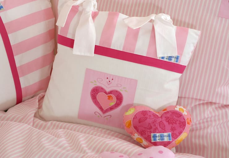Heart Cushion :  Nursery/kid's room by The Baby Cot Shop