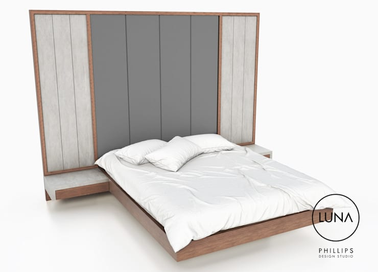 LUNA Floating Bed:  Bedroom by Phillips Design Studio