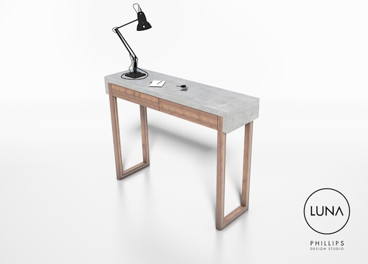 LUNA Console Table:  Corridor, hallway & stairs by Phillips Design Studio