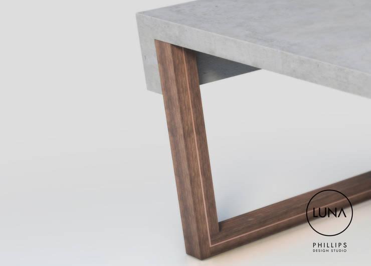 LUNA Coffee Table:  Living room by Phillips Design Studio