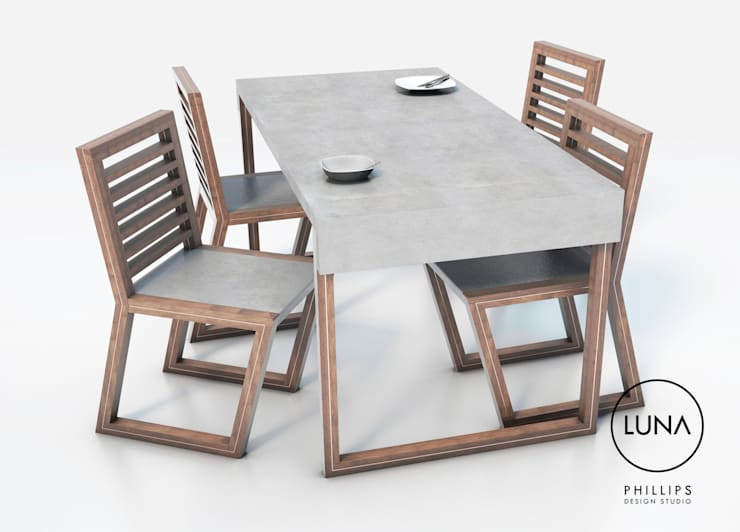 Comedor de estilo  de Phillips Design Studio