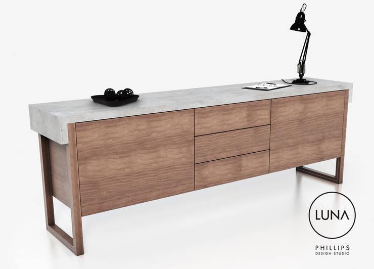 LUNA Sideboard:  Living room by Phillips Design Studio