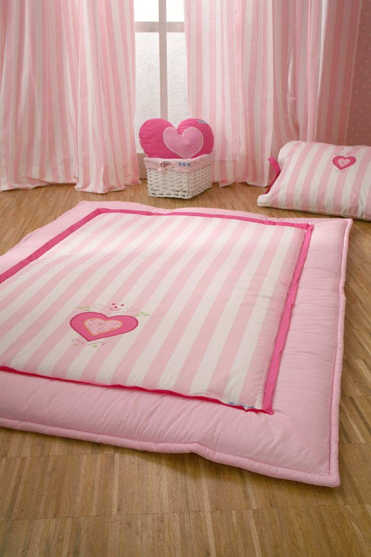 Pink Heart Baby Play Quilt :  Nursery/kid's room by The Baby Cot Shop