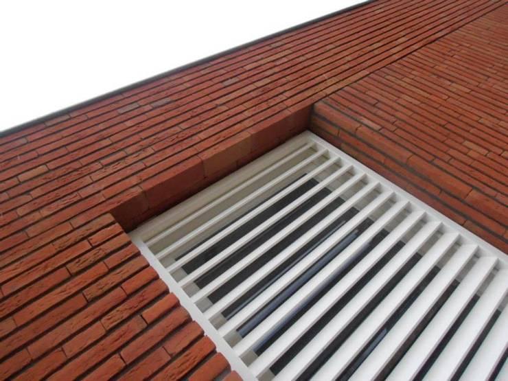 metselwerkdetail:  Huizen door Joris Verhoeven Architectuur