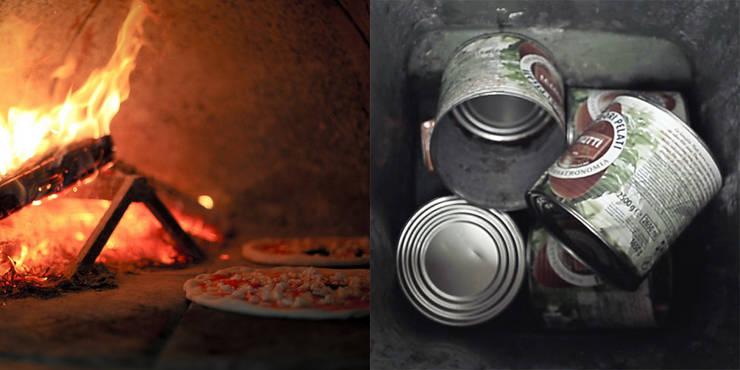 Pizza e le latte di pomodoro:  in stile  di Izmade,