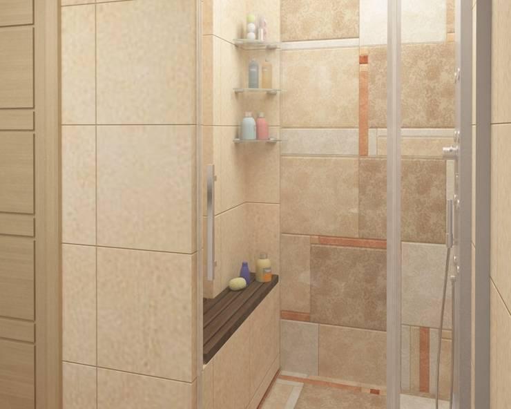 Душ: Ванные комнаты в . Автор – e.v.a.project architecture & design