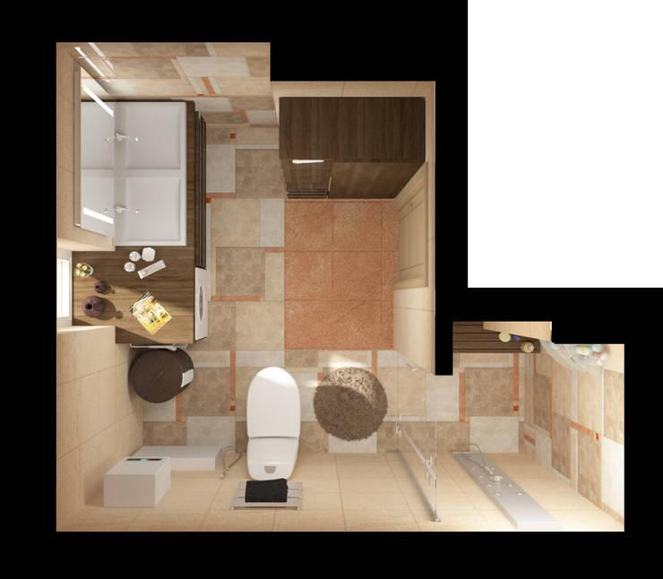 Ванная, Вид сверху: Ванные комнаты в . Автор – e.v.a.project architecture & design