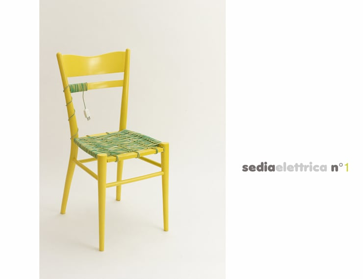 sedia elettrica gialla:  in stile  di Michela Brondi, Eclettico