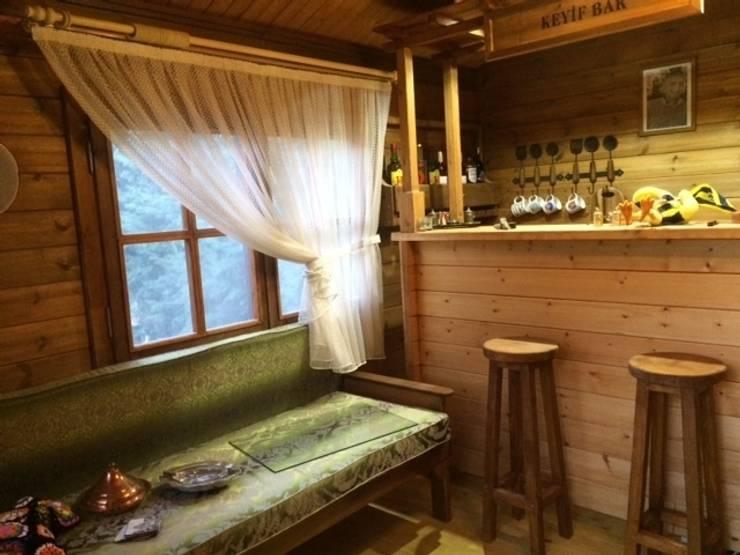 Tabiat Ahşap Tasarım ve Uygulama San. Tic. Ltd. Şti – ahşap ev içi görünüm: rustik tarz tarz Oturma Odası