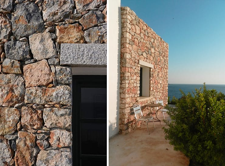 CUBES ON THE ROCKS: Case in stile  di mg2 architetture, Mediterraneo