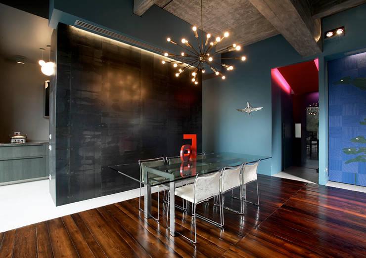 MG2 architetture - Interior - Loft: Sala da pranzo in stile  di mg2 architetture